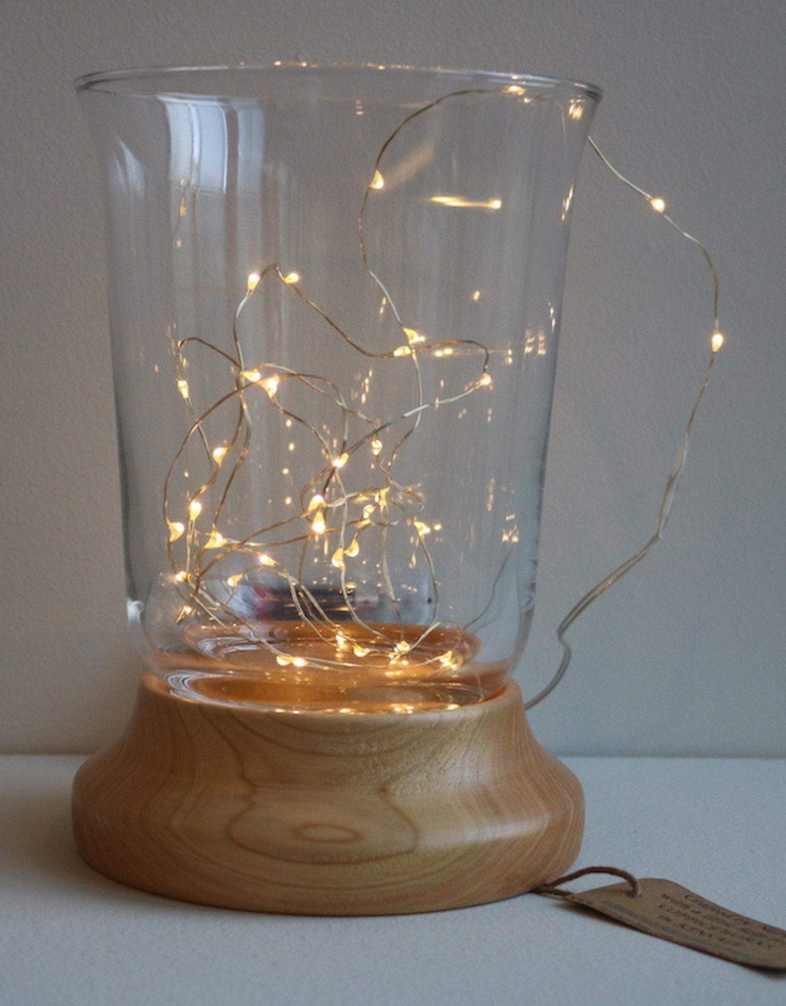 Coppiceworks Hurricane Lamps with led lights