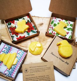 Ireland Beeswax Wraps Christmas DIY Beeswax Wrap Kit