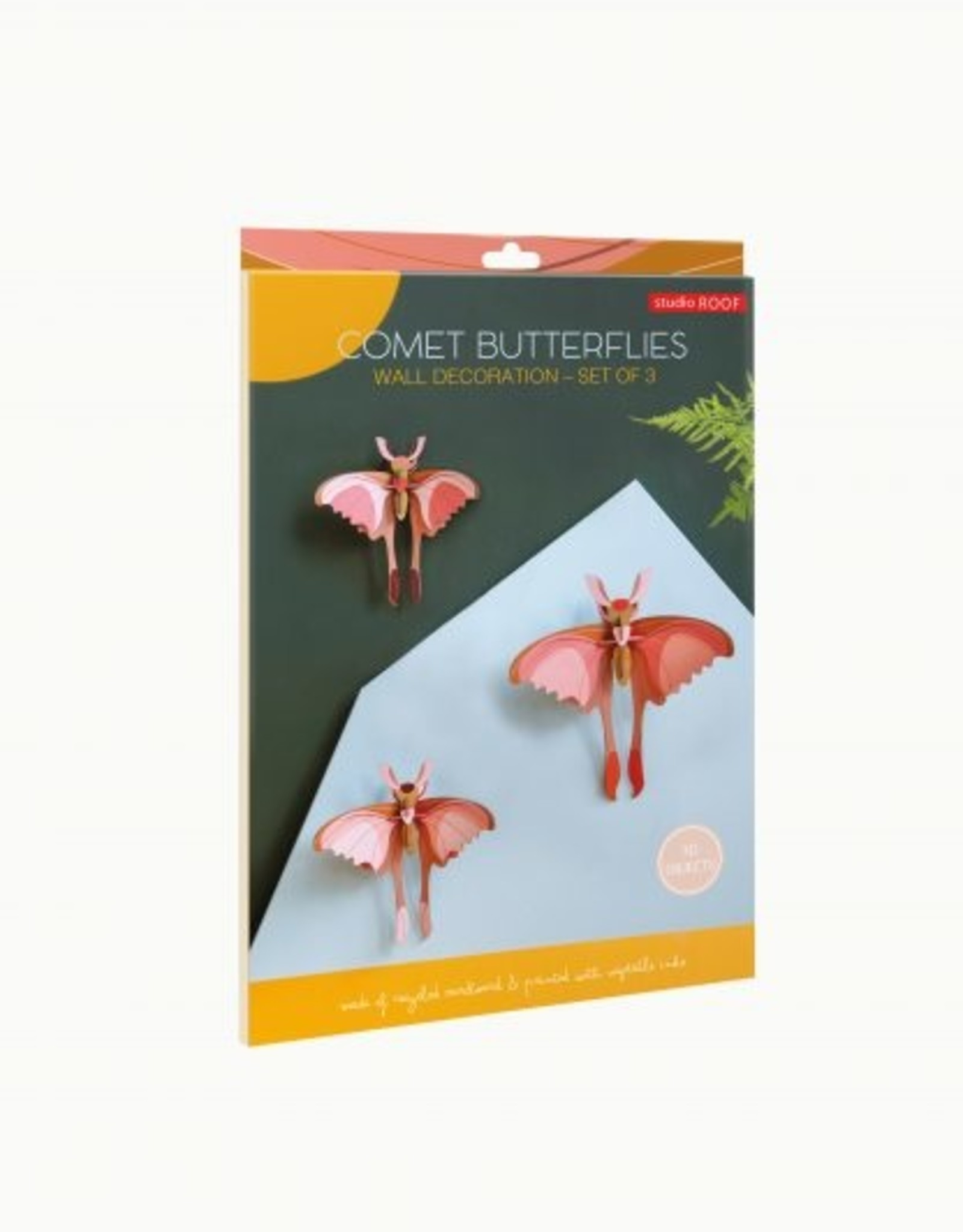Studioroof Set of 3 - Comet butterflies