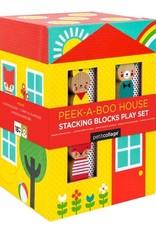 Petit Collage PTC233 Peek-a-Boo House Stacking Blocks Play Set