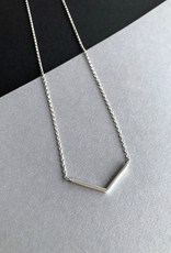 Angela O'Keefe AOK 6 Silver V necklace