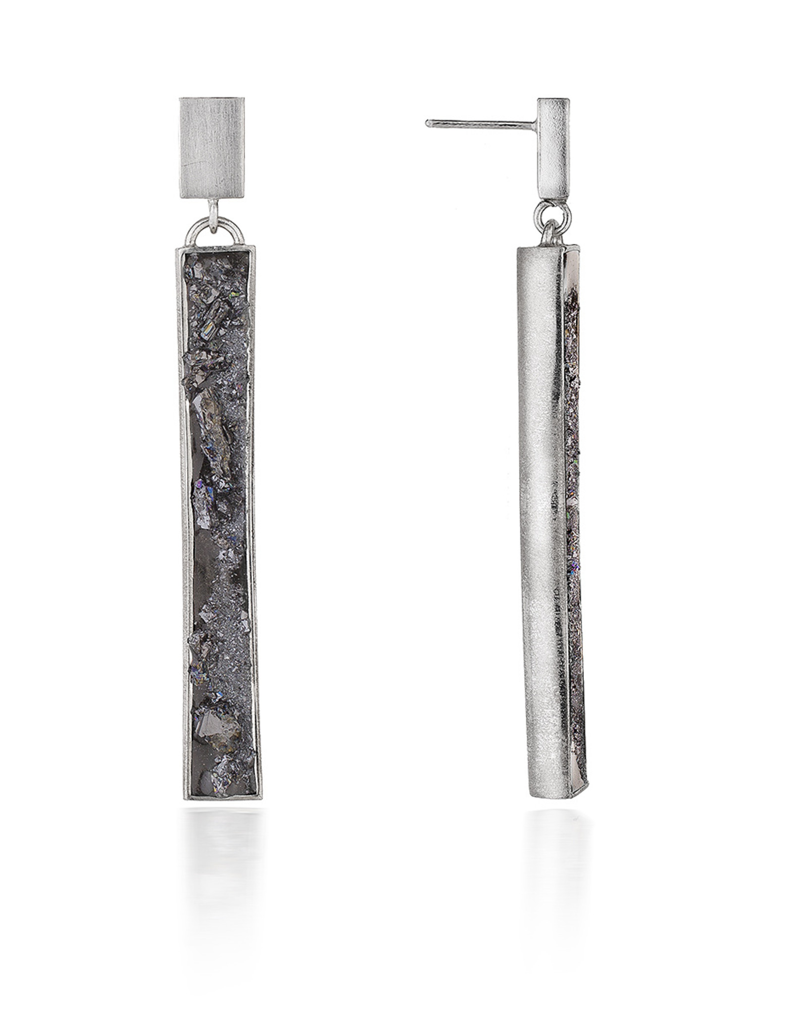 Angela O'Keefe AOK 12 Vertical drop earrings (wide)