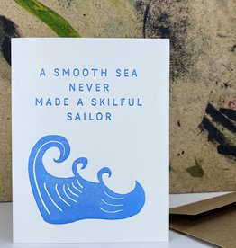 The Pear in Paper Letterpress - A smooth sea