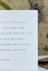 The Pear in Paper Letterpress - Fear less, hope more