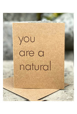 The Pear in Paper Letterpress - You are a natural