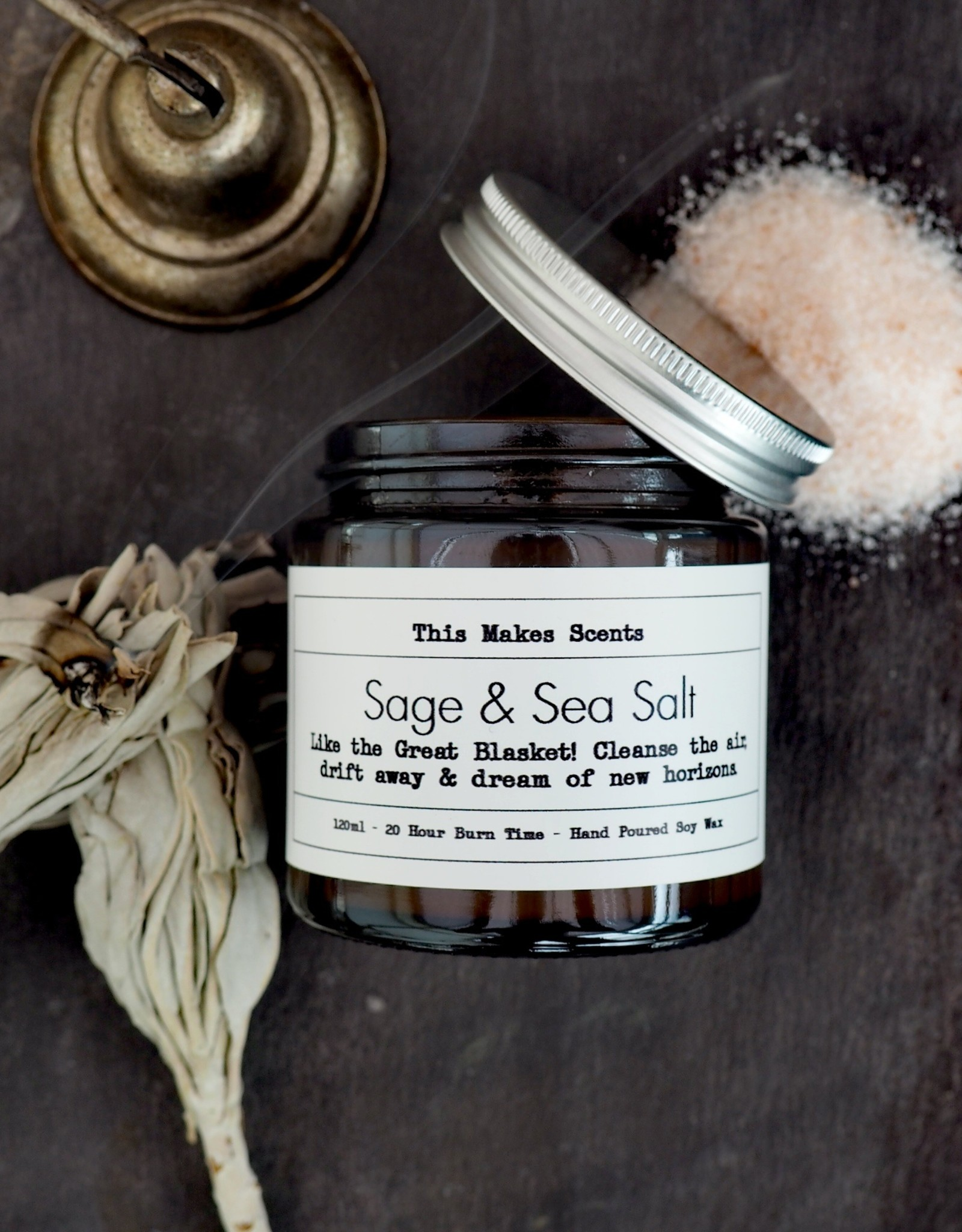 This Makes Scents Sage & Sea Salt - 120ml Candle
