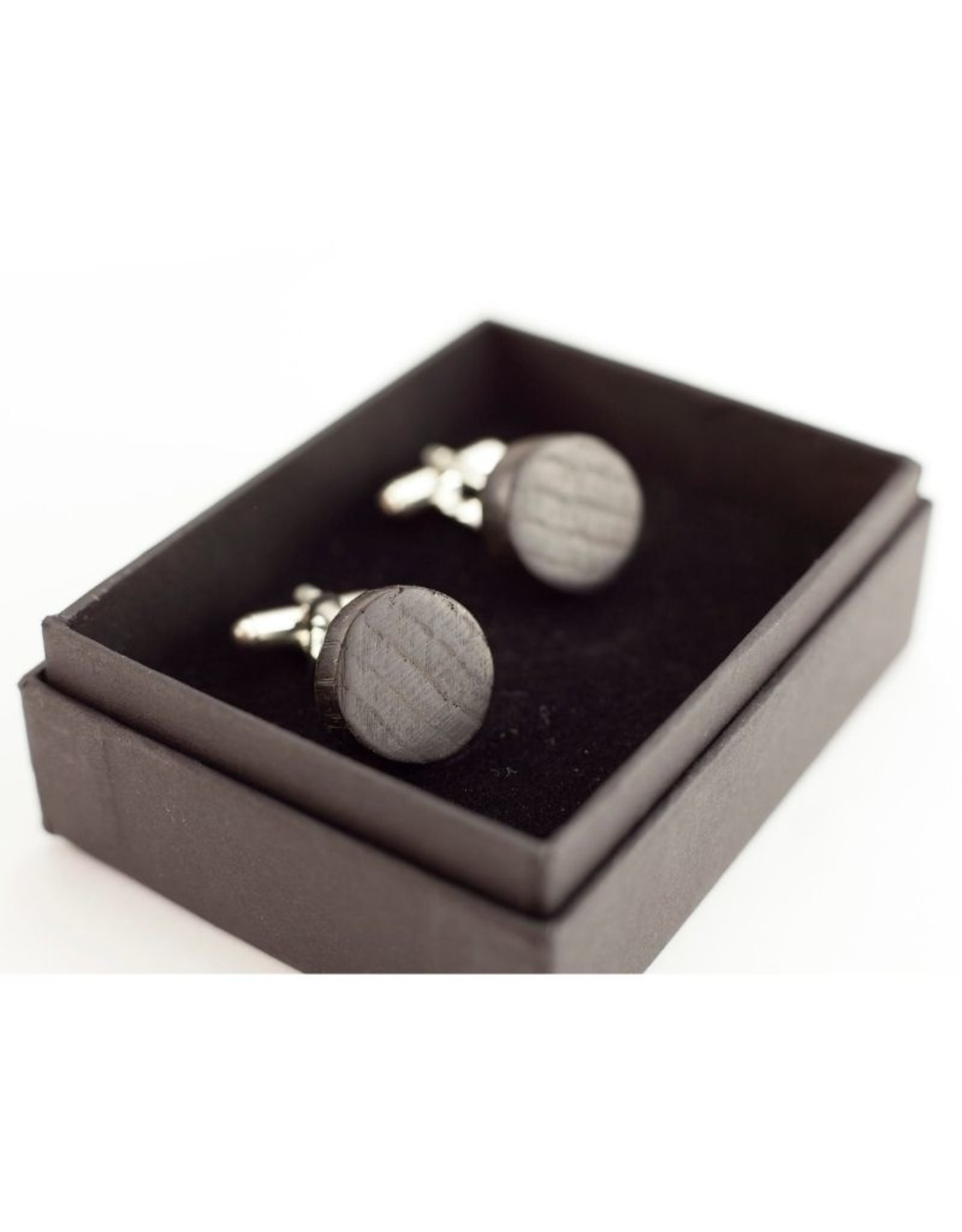 Leko & Leko Jewellery Leko & Leko -Round Cufflinks Silver Plated