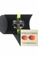 Angela O'Keefe AOK 19 Graffiti Studs Orange / Pink Mix