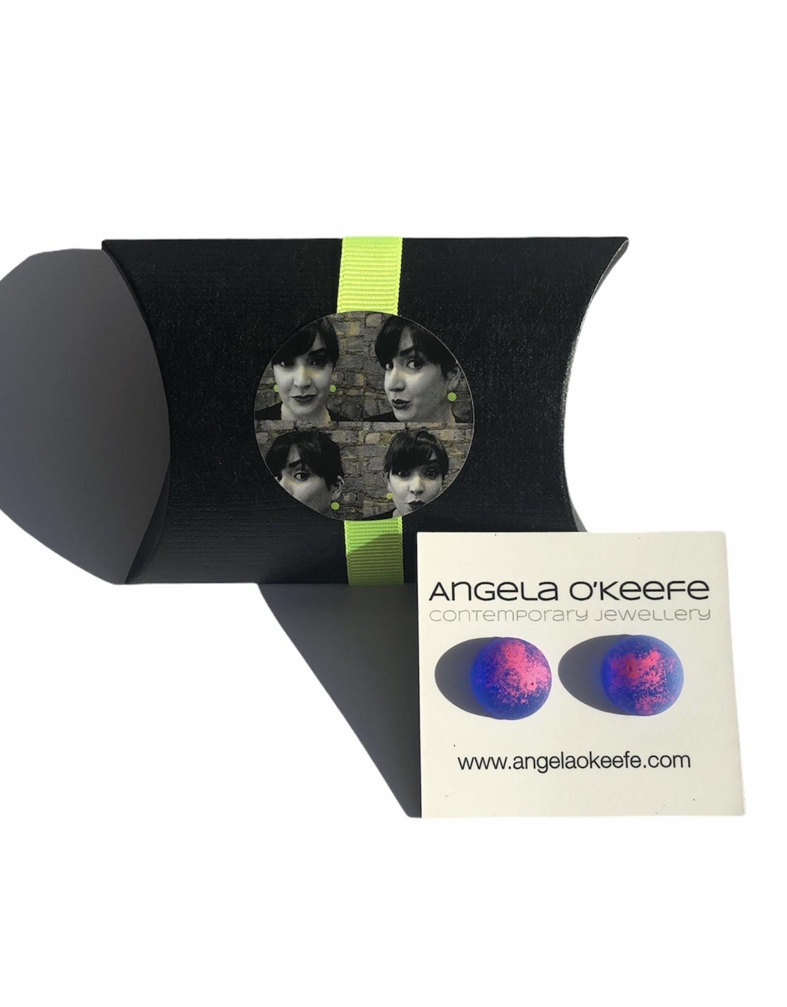 Angela O'Keefe AOK 22 Graffiti Studs Blue /Pink Mix