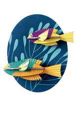 Studioroof Wall Decor Spanish Hogfishes (small)