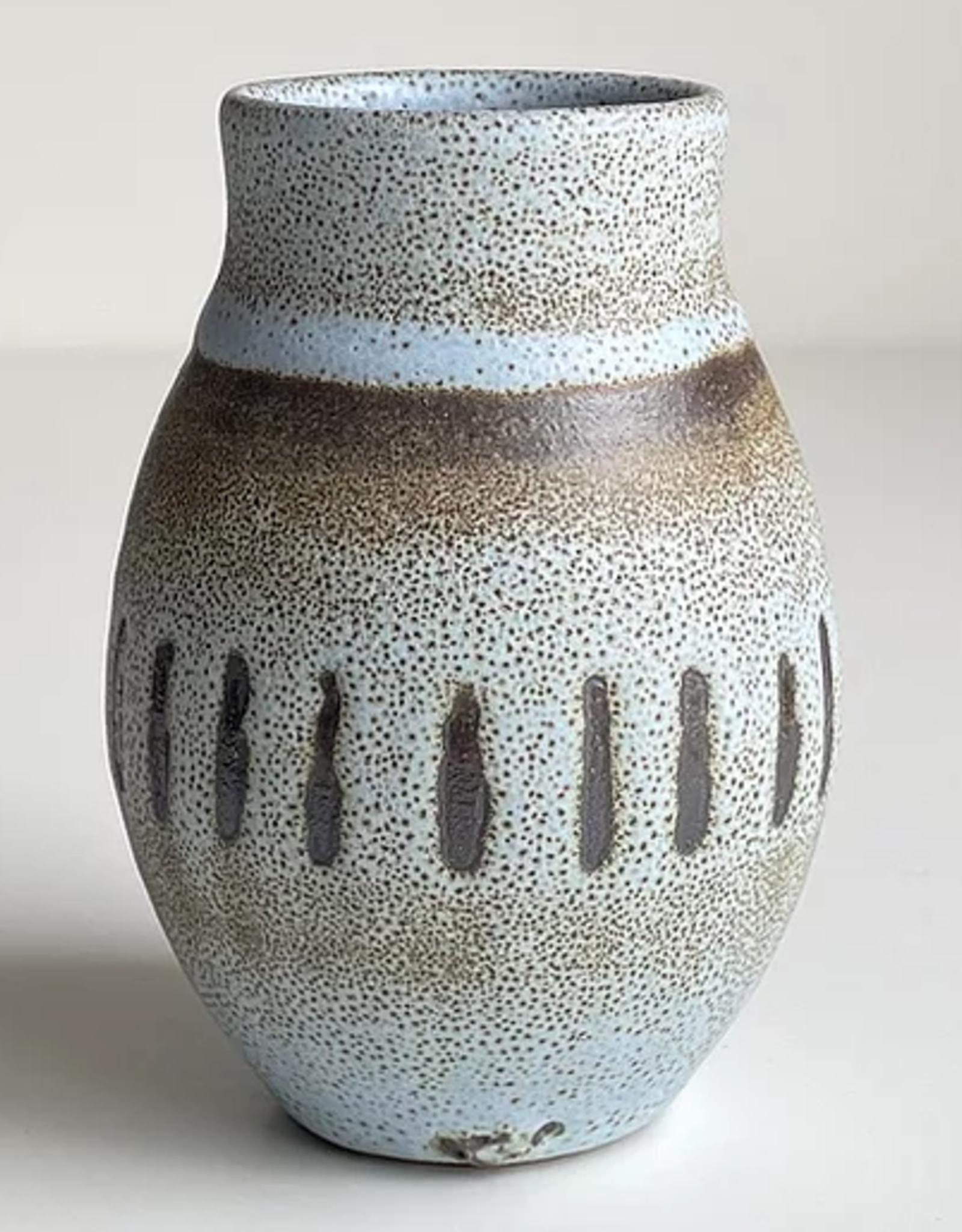 Magda Bethani MBC/VSBL Vase blue with lines