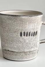 Magda Bethani MBC/MLWD Large Mug White with dots