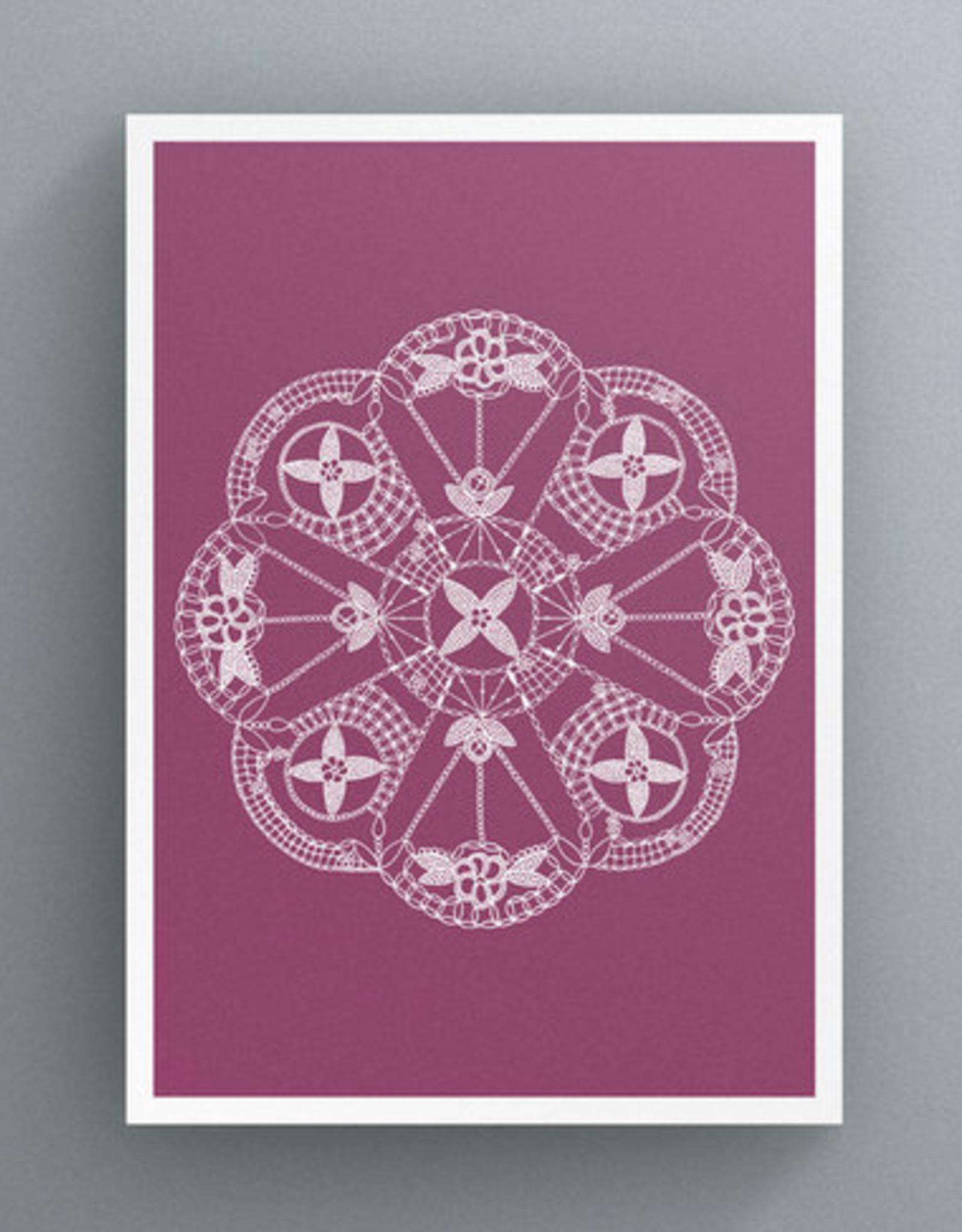 Petal to Petal Irish Lace - Greeting Card
