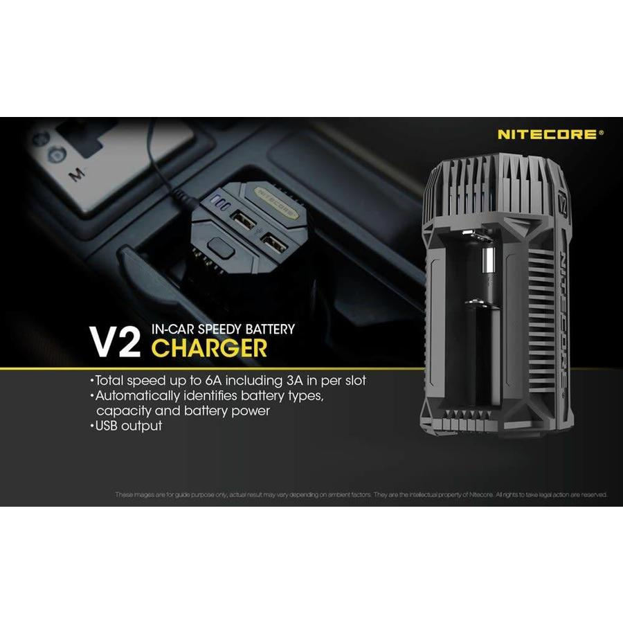 Nitecore V2 In-car 3A Quick Charger