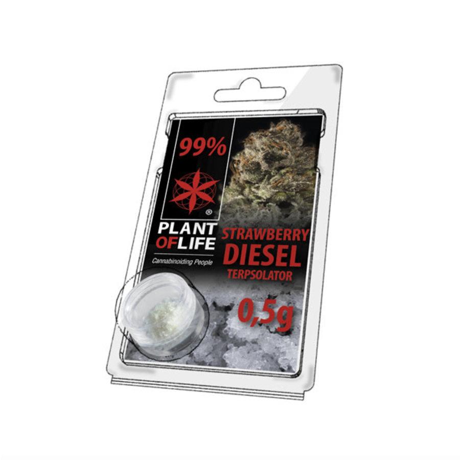 Plan of Life Terpsolator 99% CBD 0.5g Strawberry Diesel