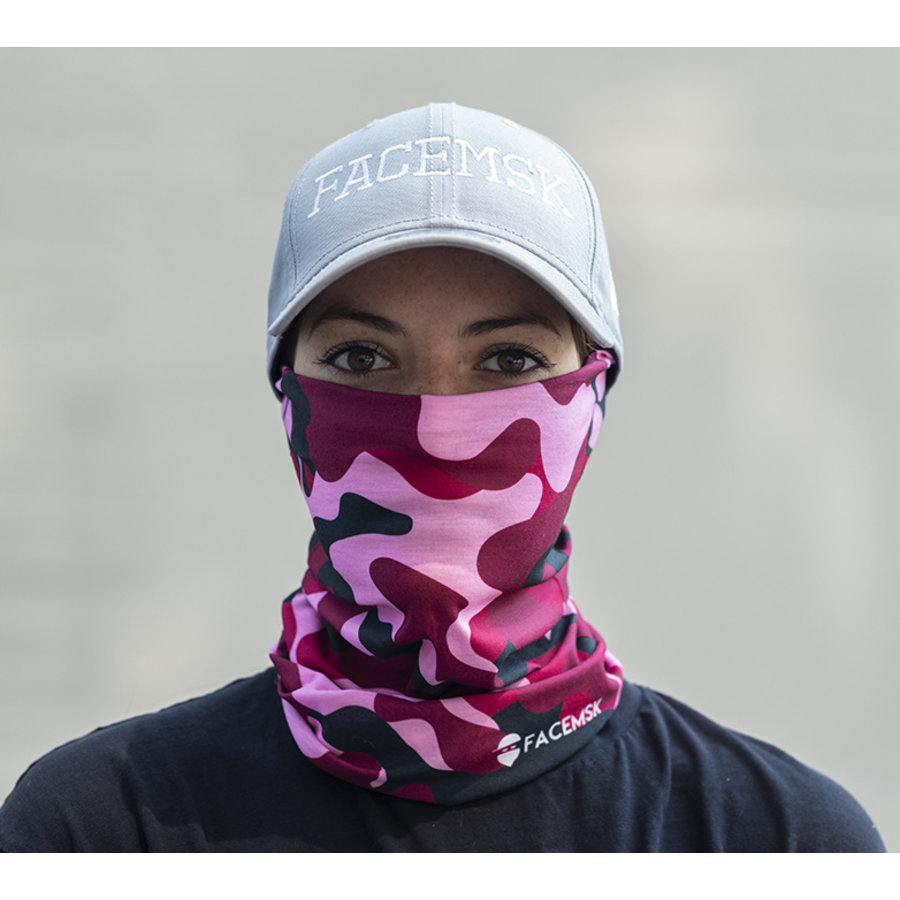 Facemsk - Pink military camo