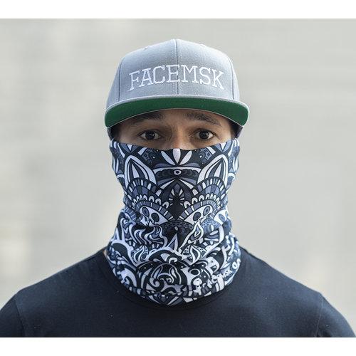 Facemsk -  Maori Black & White