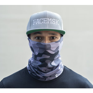 Facemsk - Camouflage militaire gris