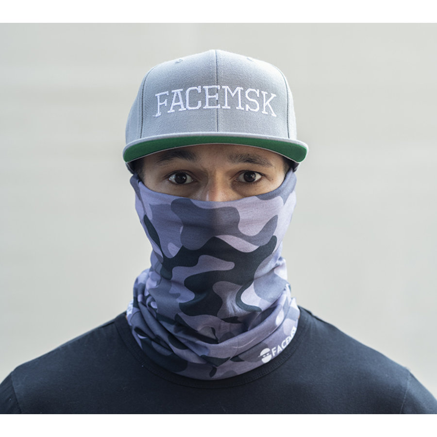 Facemsk - Gray military camo