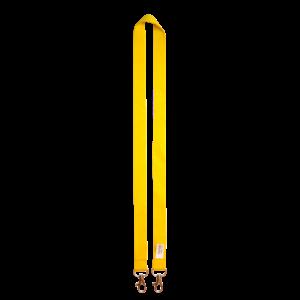 Geel - Polyester badgekoorden met 2 haken