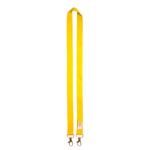 Yellow - Polyester lanyard with 2 metal hooks