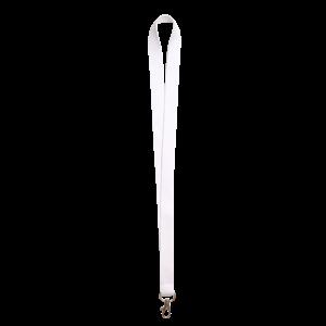 Weiß - Schlüsselbänder aus Polyester (Set à 50 Stück)