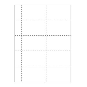 Badgepapier 10 op een vel: 1060-K (set van 25 of 100  vel)