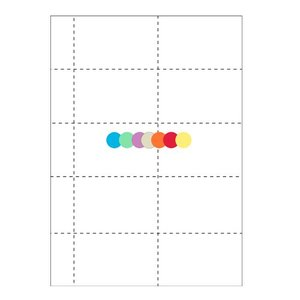 Colored badge paper 10 per sheet: 1060-C (set of 25 sheets)