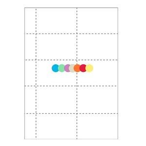 Gekleurd badgepapier 10 op een vel: 1060-C (set van 25 vel)