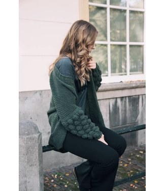 ARMY BUBBLE KNIT