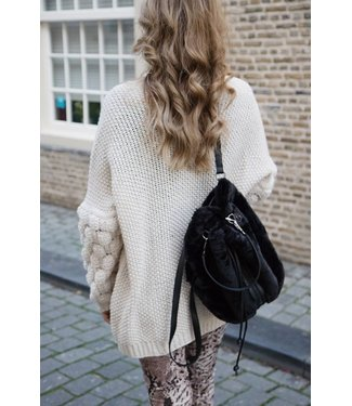 LES BEIGE BUBBLE KNIT