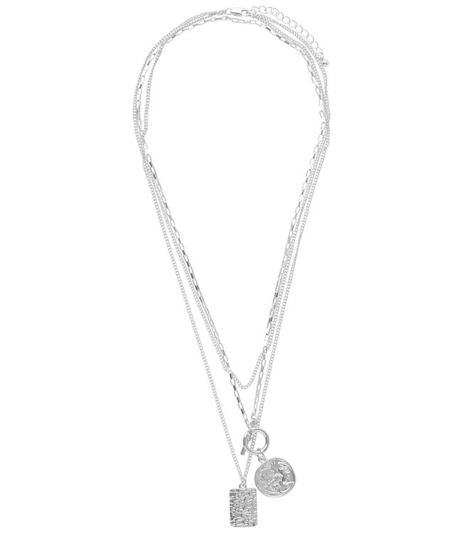 COMBI NECKLACE SILVER