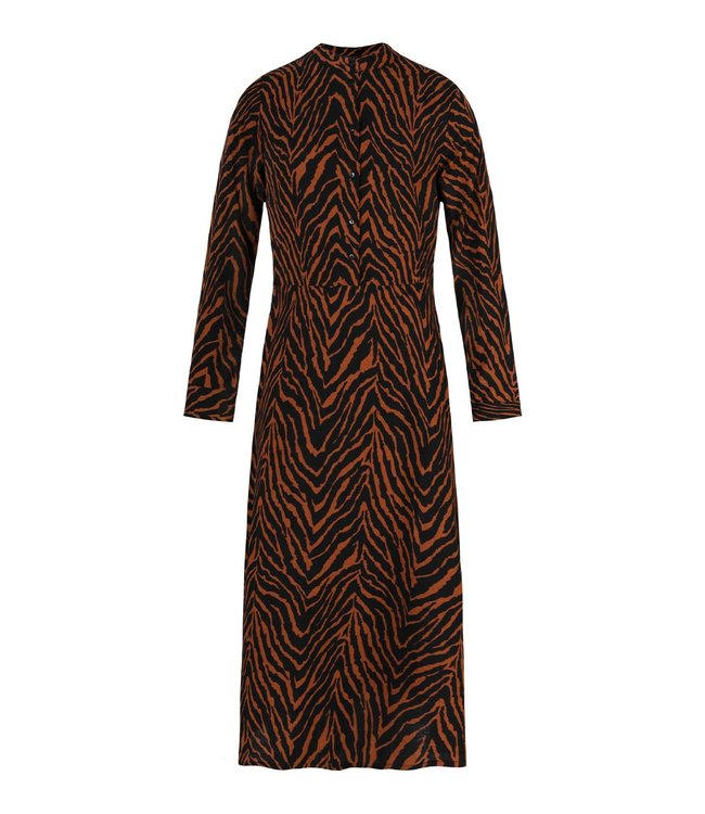 BROWN ZEBRA DRESS