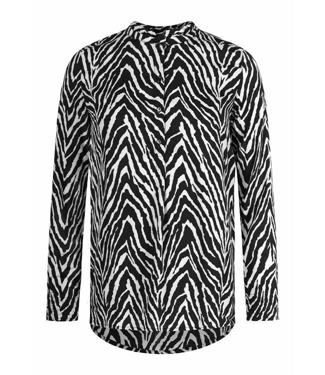 BLACK ZEBRA BLOUSE