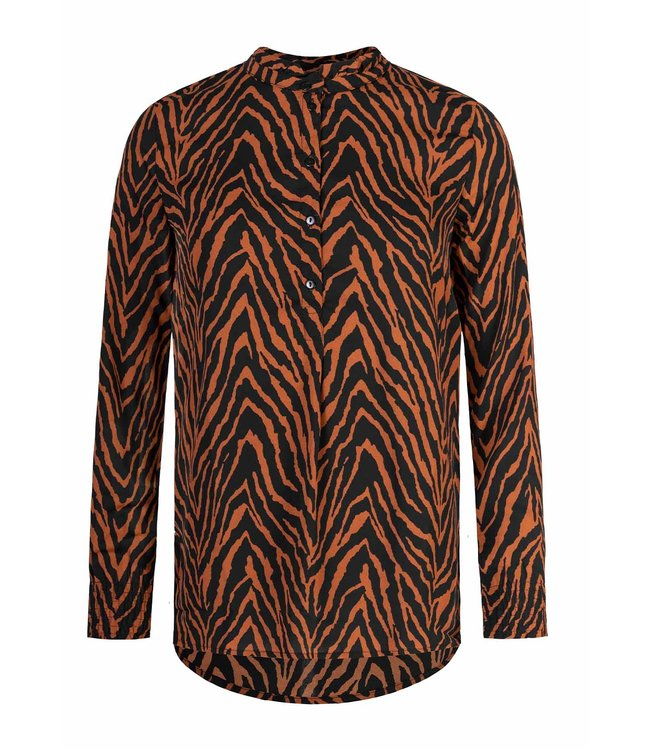 BROWN ZEBRA BLOUSE
