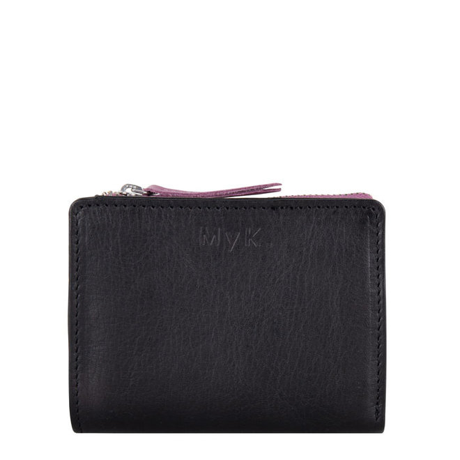 Out of stock - Purse Poppy - Black / Plum