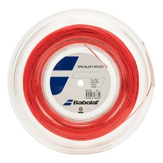 Babolat RPM Rough 125 Tennis String (Fluo Red) - 200m Reel