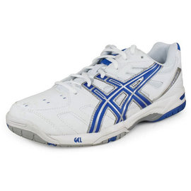 Asics Asics Gel Game 4 Gents Tennis Shoes White/Royal/Silver UK11