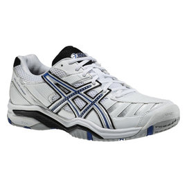 Asics Asics Gel-Challenger 9 Gents Tennis Shoes White/Blue/Silver UK 11