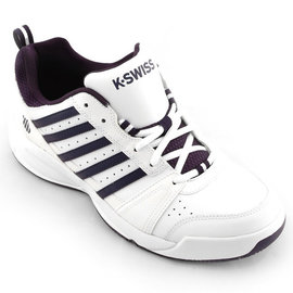 K Swiss K-Swiss Vendy ll Gents Tennis Shoes White/Navy UK 8