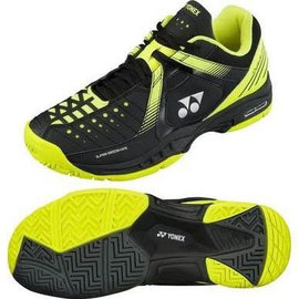 Yonex Yonex Power Cushion Durable Mens Tennis Shoe Black/Yellow 7.5