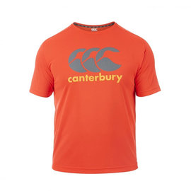 Canterbury Canterbury Mens Vapodri Poly Logo T-Shirt. Red Spark XL