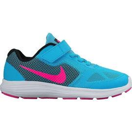 Nike Revolution 3 GS Junior Running Shoe Royal Blue/ Green 6 (archived)