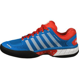 K Swiss K-Swiss Hypercourt Express HB Gents Tennis Shoe Blue/Fiery Red UK 8