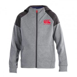 Canterbury Canterbury Junior Vaposhield Zip Thru Hoody, Static Marl/Nine Iron (2018)
