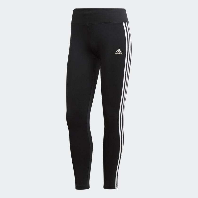 8110a9bf790bd Adidas Ladies Climalite 3 Stripe Leggings (2018) - Gannon Sports