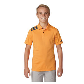 Adidas Adidas Junior 3 Stripe Polo Shirt , Real Gold (2018)