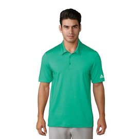 Adidas Adidas Mens Ultimate 365 Solid Polo Shirts, Hi-Res Green (2018)