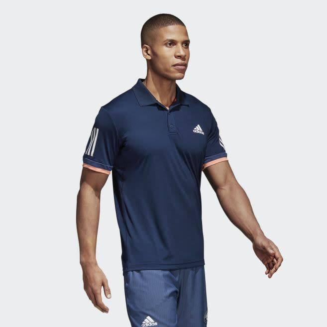 53fff513 Adidas Mens 3 Stripe Polo Shirt - Navy (2018) - Gannon Sports