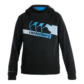 Canterbury Canterbury Vaposhield Fleece OH Boys Hoody, Jet Black/Blue (2018)